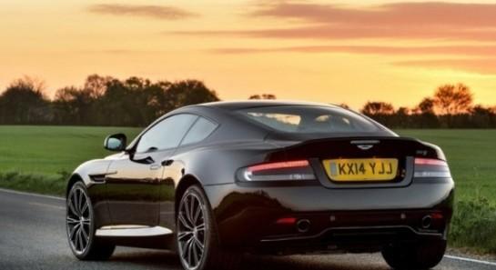 Aston Martin DB9 вид сзади