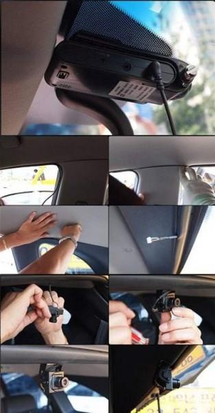 Установка видеорегистратора с камерой заднего вида