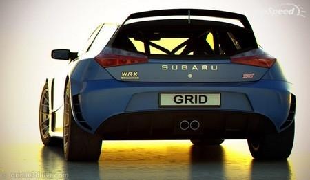 Subaru Impreza WRX STI фото сзади
