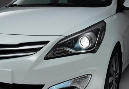 фары рестайлингового Hyundai Solaris