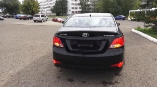 Hyundai Solaris фото сзади