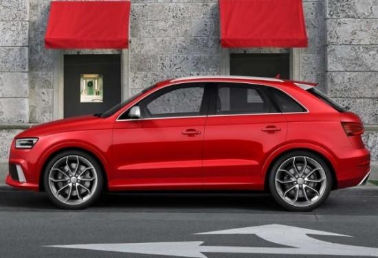 Audi RS Q3 фото сбоку