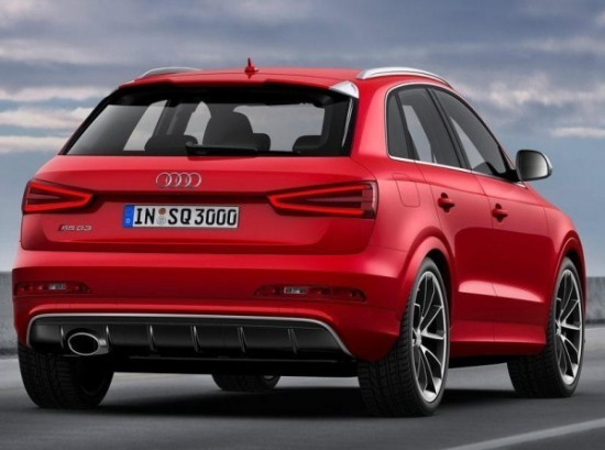 Audi RS Q3 фото сзади