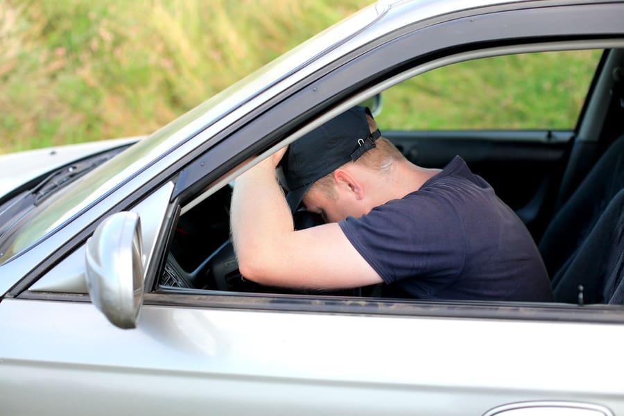 спал за рулем